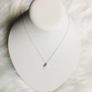 New Satya sterling silver lotus necklace yoga